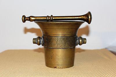 Mörser Schlegel Stössel antik Pistill Küche Pulver Deko Tabletten #6255 5