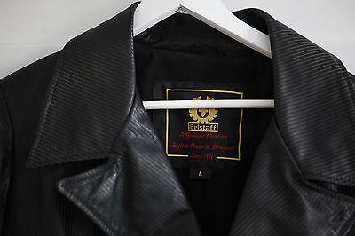 fe46483c6 BELSTAFF MITTELLANGER LEDERMANTEL JACKE schwarz Gr.L Sweeney Todd Jacket  Coat