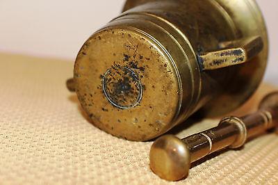 Mörser Schlegel Stössel antik Pistill Küche Pulver Deko Tabletten #6256 3