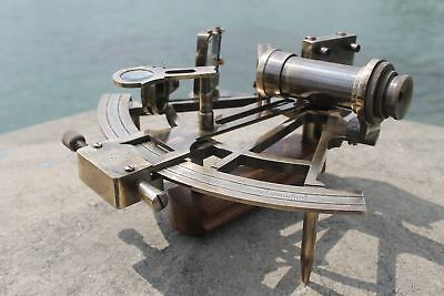 "Nautical Hand-Made Heavy 7"" Brass Sextant Astrolabe Sextant - By Masco-Nauticals 6"