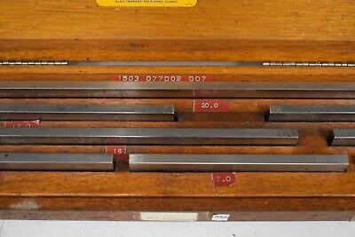 "DoAll 5-20"" Rectangular Steel Large/Long Gage Block Set - NN39 4"
