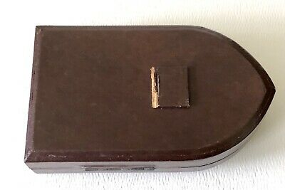 Vtg Italian Leather Case Miniature Hand Painted Holy Religious Madonna Celluloid 6