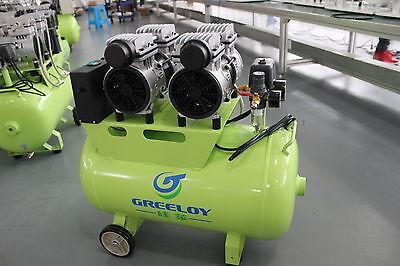 236L/min Dental Air Compressor Noiseless Oilless Motors GA-62 60L Tank AU 220V 2