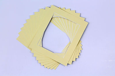 Picture Mounts Photo Frames Mounts Bevel Cut-PACK OF 10 - A4 A3 and Bespoke Size 2