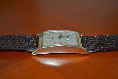 Original-Vintage-Longines-Armbanduhr/Uhr-Gold/Gelbgold 14k/585er-Handaufzug-Selt