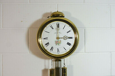 Old Comtoise Wall Clock Dutch Movement Vintage Old Clock 7