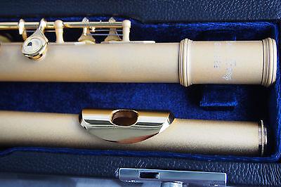 Querflöte  Fine Gold Flute Gold sandblasted 24ct. Flauta Or  Flauti Flute Oro