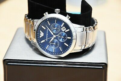 New Genuine Emporio Armani Mens Ar2448 Watch Blue Dial Stainless Steel £319 Rrp 6