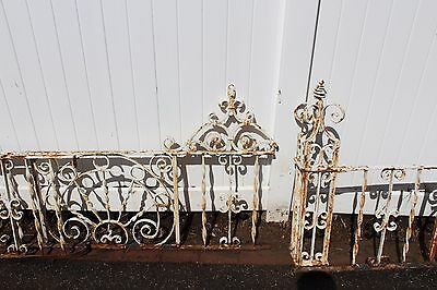 Antique Ornate Wrought Iron Fence - American circa 1900s 3