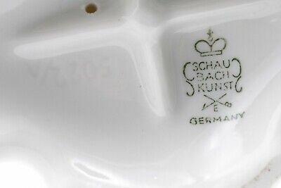 Germany 1930, Schaubach Kunts White Porcelain Pair Of Candle Holders Nice!!! 7
