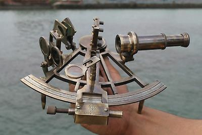 "Nautical Hand-Made Heavy 7"" Brass Sextant Astrolabe Sextant - By Masco-Nauticals 4"
