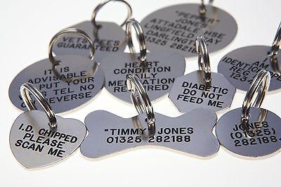 Quality Engraved Pet tag - small 38mm BONE Nicron tag 2