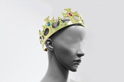 Gold Royalty Plastic king Queen Crown Princess Tiara Prince Crown Costume 3