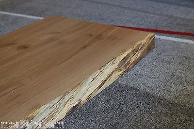 waschtisch platte tischplatte eiche massiv holz tisch brett 5 5cm mit baumkante eur 380 00. Black Bedroom Furniture Sets. Home Design Ideas
