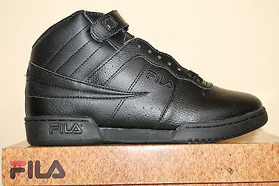 40c887cafe92 ... Mens Fila F13 F-13 Classic Mid High Top Basketball Shoes Sneakers White  Black 2