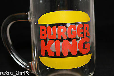 Vintage Burger King Original Hires Root Beer Clear Glass Mug Cup Logo France 49 90 Picclick