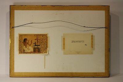 Antique Ancient Egyptian Painted Saite Period 800-400 B.C. Wooden Fragment 8