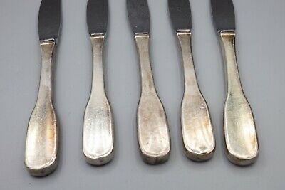 "Hans Hansen Susanne Sterling Silver Dinner Knife Stainless Blade 8 3/4"" Set of 5 6"