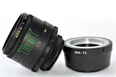 New HELIOS 44-2 2/58mm+ adapter FujiFilm M42/FX Mount BEST Russian USSR Lens 3