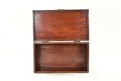 Antique Chinese Red Wooden Jewelry Box with Brass Hardware 4