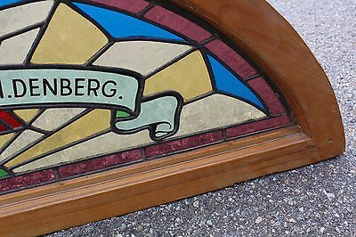 Arched Top Antique Victorian Stained Glass Window Architectural Salvage Church 5