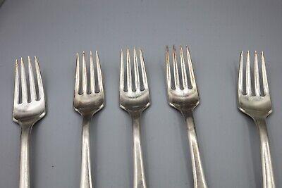 """Hans Hansen Susanne Sterling Silver Dinner Fork, Denmark – 7 1/8"""" – Set of 5 6"""