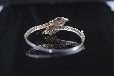 925 Sterling Silver Handmade Authentic Turkish Emerald Bracelet Bangle Cuff 4