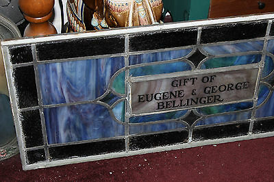 Antique Stained Glass Leaded Church Window-Religious-Eugene Bellinger-LARGE 2
