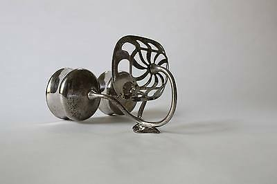 antique bathroom cup soap holder | art brass co vtg bath deco cup soap holder 7