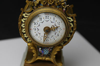 Gorgeous Vintage French Miniature 8-day Clock 3