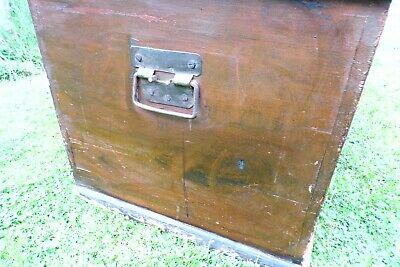 Antique Victorian Old Pine Chest / Trunk / Blanket Box c1860 8