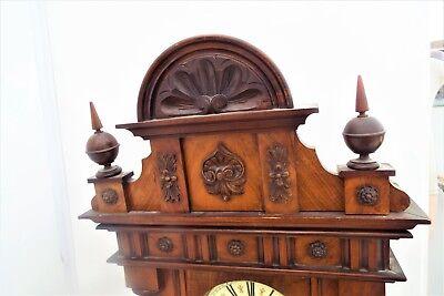 Huge Vienna rare maker movement mahogany cased 2