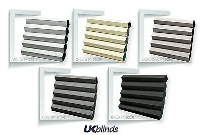 PERFECTLY FITTED BLACKOUT Frameless Bi-Fold//Patio Doors Pleated Honeycomb Blind