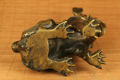 Big Antique bronze hand carved unicorn statue collectable home decoration 8