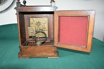 Lovely Antique Winterhalder & Hofmeier Bracket Clock [Oak Cased] 8