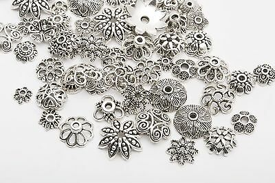 150pcs Mixed Tibet Silver Beads Spacer For Jewelry making European Bracelet 2