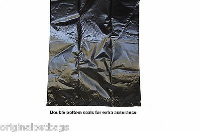 1000 Unscented Black Poop Bag Dog Waste Pick up Clean Bags coreless Made in USA 3