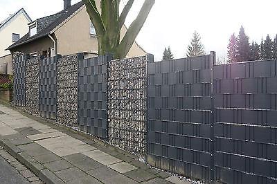 pvc sichtschutz streifen sichtschutzfolie doppelstabmatten zaun guck nich zaun eur 28 99. Black Bedroom Furniture Sets. Home Design Ideas