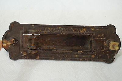 ANTIQUE DOOR KNOCKER AND MAIL SLOT LETTERS CAST IRON KENRICK NO 445 hardware 3