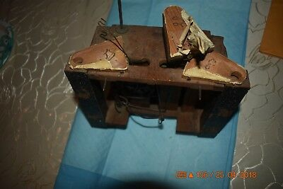 ANTIQUE Black Forest CUCKOO WOODEN PLATES CLOCK MOVEMENT BEHA??? for parts 8