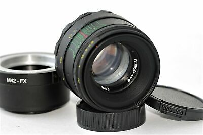New HELIOS 44-2 2/58mm+ adapter FujiFilm M42/FX Mount BEST Russian USSR Lens 10