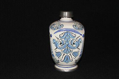 Apothekerkrug Keramikkrug Apothekergefäß mit Zinn Schraubverschluß Ulmer Keramik 4