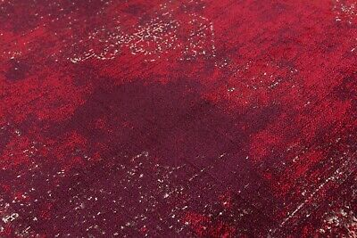 Burgundy Rug Classic Vintage Design Traditional Faded Distressed Ruby Red 6