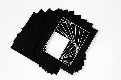 Picture Mounts Photo Frames Mounts Bevel Cut-PACK OF 10 - A4 A3 and Bespoke Size 4