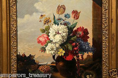 Early 20th Century European Flower Still Life Oil Painting 3