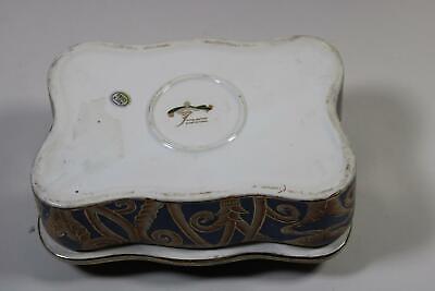 RK088 Dose Deckeldose aus Porzellan handbemalt im Antik Stil