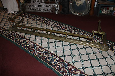 "Antique Fireplace Fender Surround Skirt-Copper & Brass-52"" Long-Arts & Crafts 2"