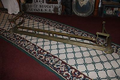 "Antique Fireplace Fender Surround Skirt-Copper & Brass-52"" Long-Arts & Crafts 2"