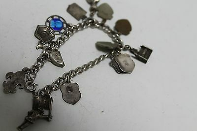 Antique Authentic Hand Made Charming Silver Coins Woman Chain Bracelet 8