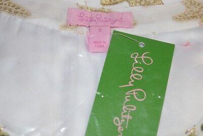 8a9647c3cfc07f ... New Lilly Pulitzer COLBY SILK TUNIC DRESS Resort White Metallic  Starfish 2 14 11